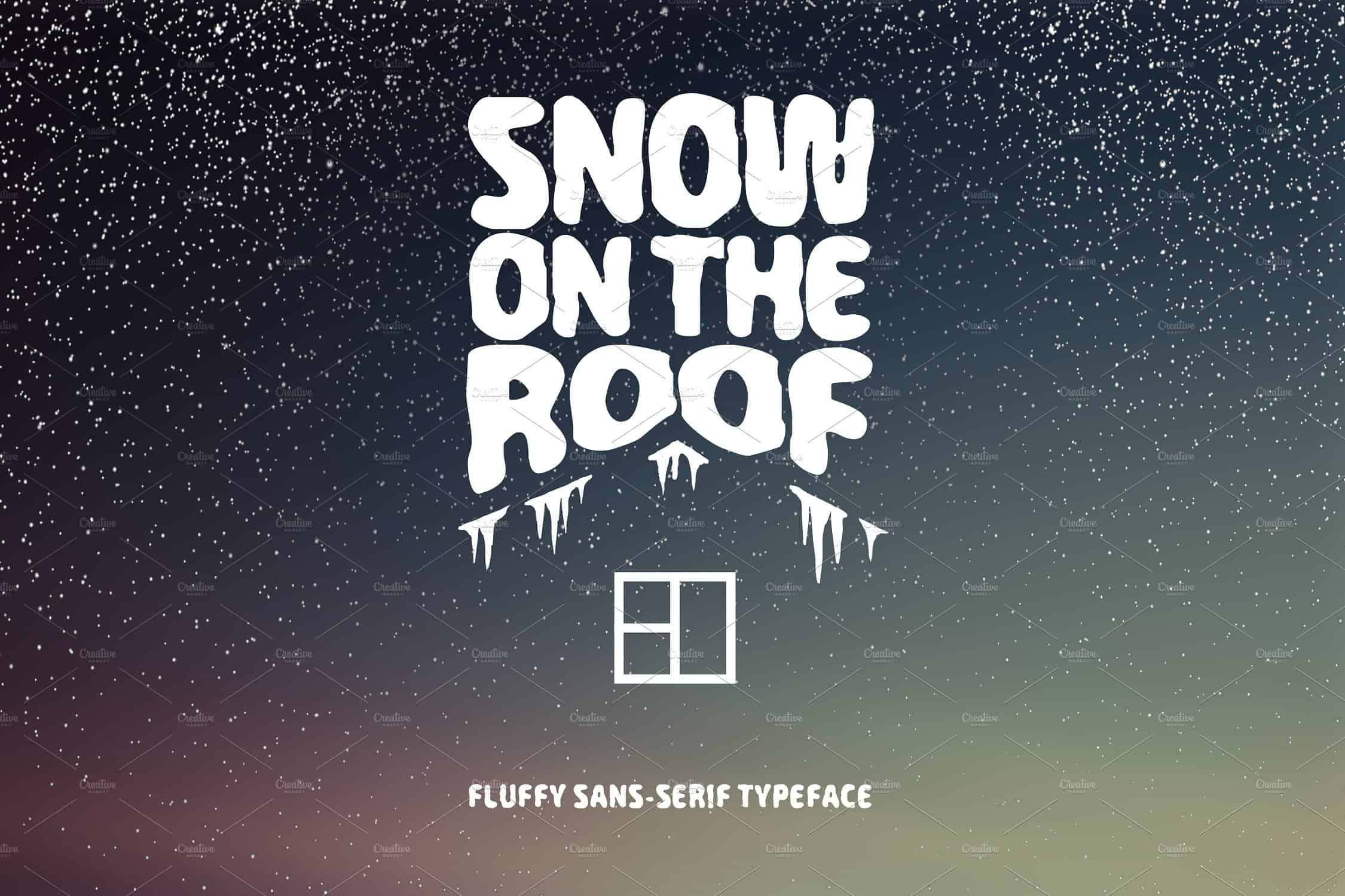 Download Snow On The Roof font (typeface)