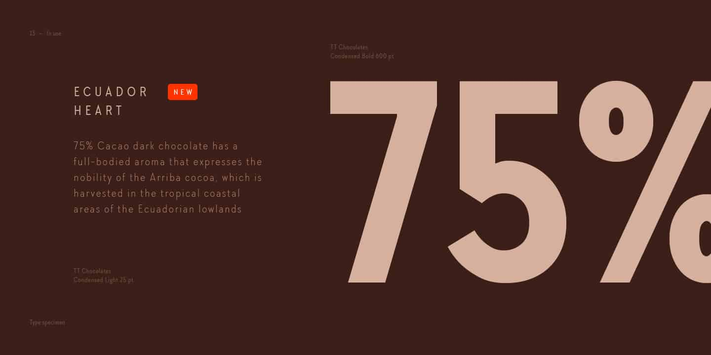 Download TT Chocolates Condensed font (typeface)