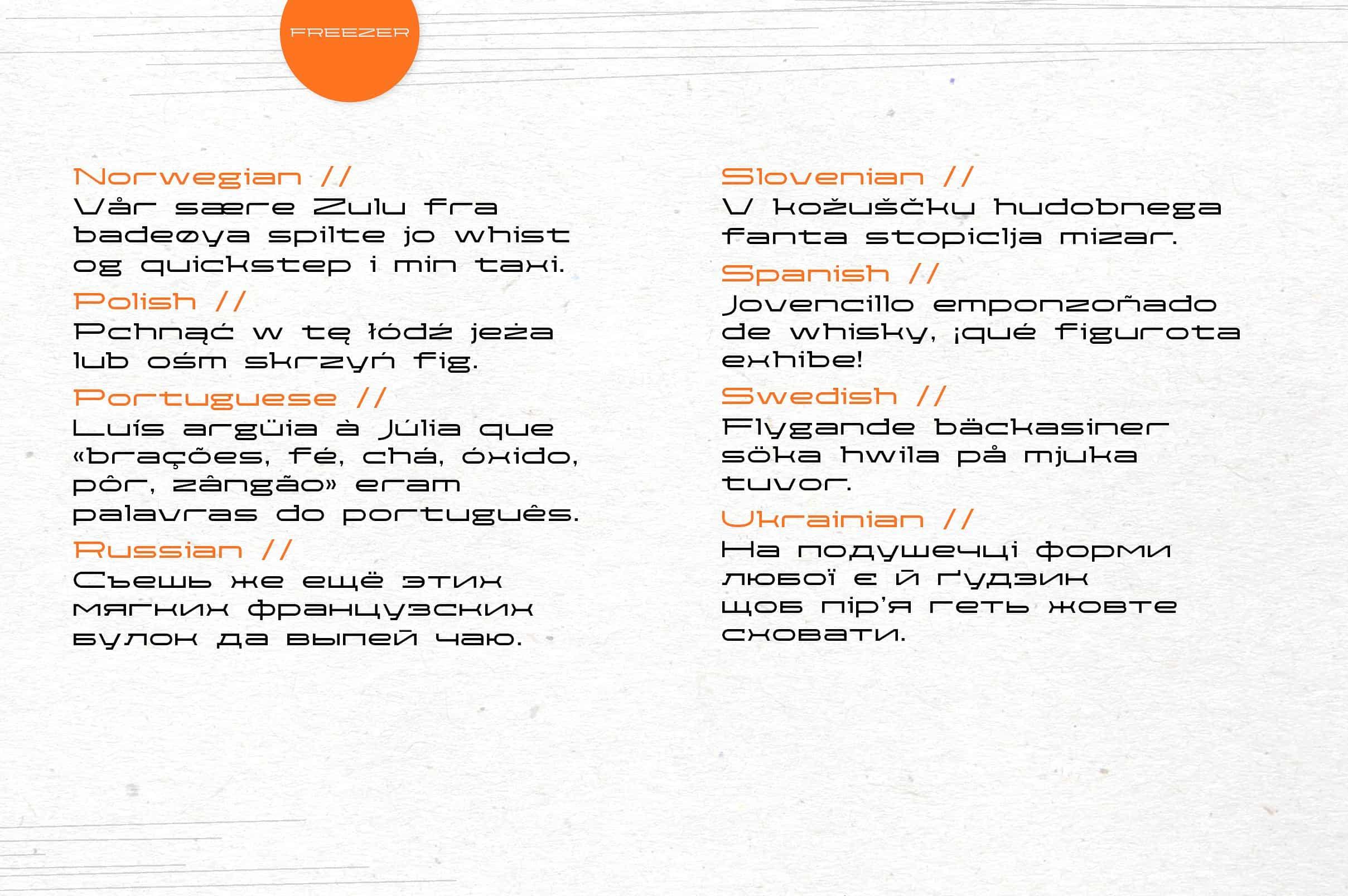 Download Freezer font (typeface)