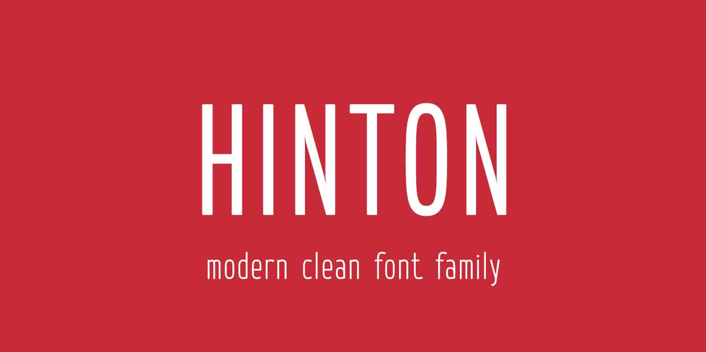 Download Hinton font (typeface)