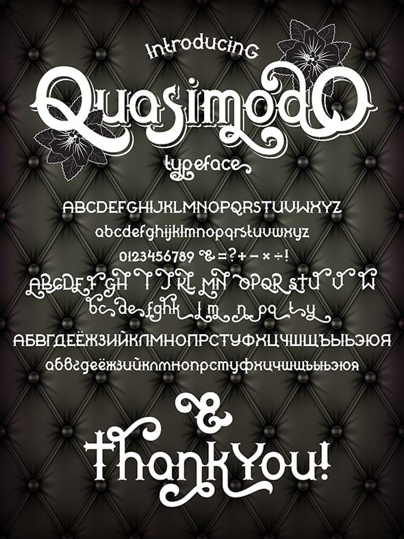Download Quasimodo font (typeface)