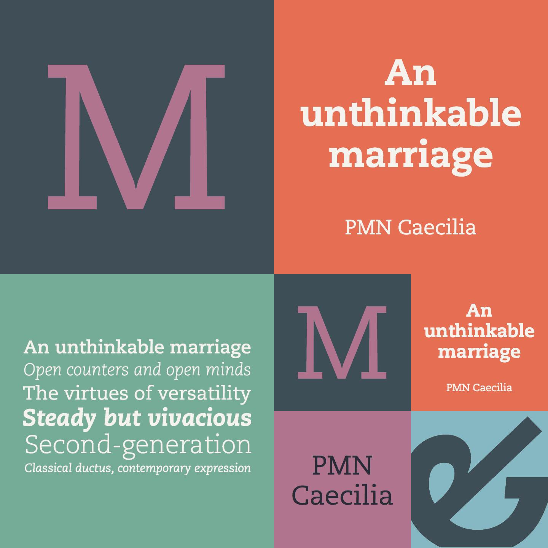 Download Caecilia PMN     [1990 - Peter Matthias Noordzij] font (typeface)