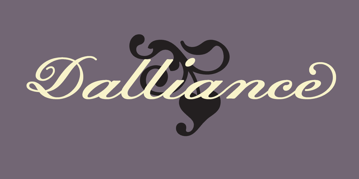 Download Dalliance     [2000 - Frank Heine] font (typeface)