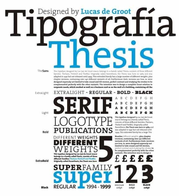 Download Thesis [1994 - Lucas de Groot] font (typeface)