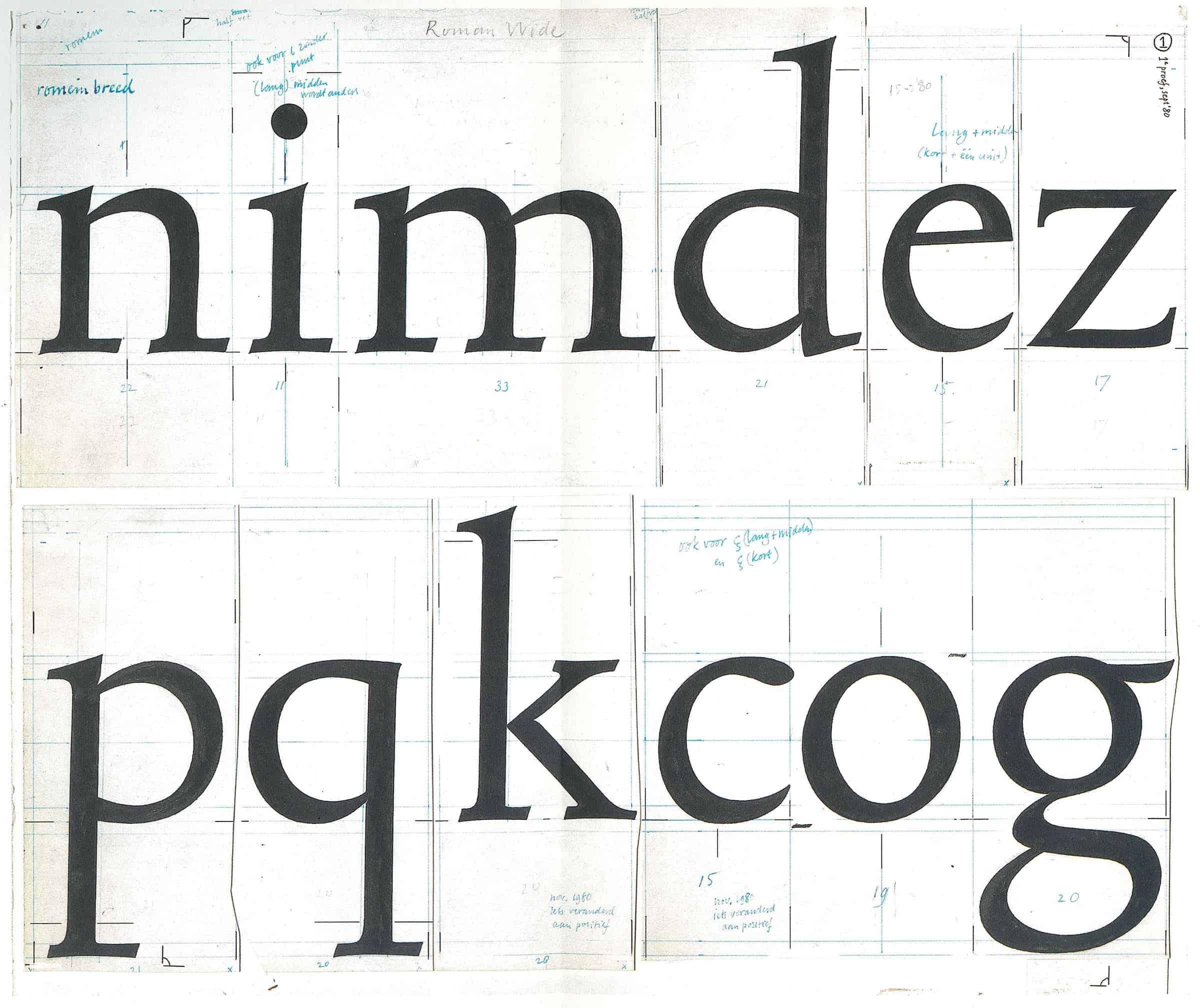 Download Trinité     [1982 - Bram De Does] font (typeface)