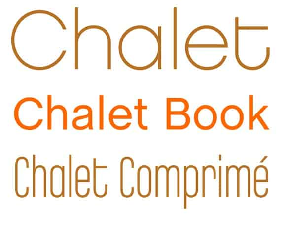 Download Chalet     [1996 - House Industries] font (typeface)