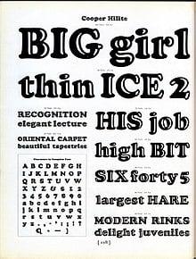 Download Cooper Black     [1920 - Oswald B. Cooper] font (typeface)