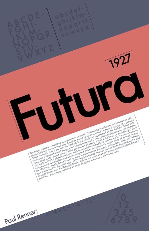Download Futura     [1927 - Paul Renner] font (typeface)
