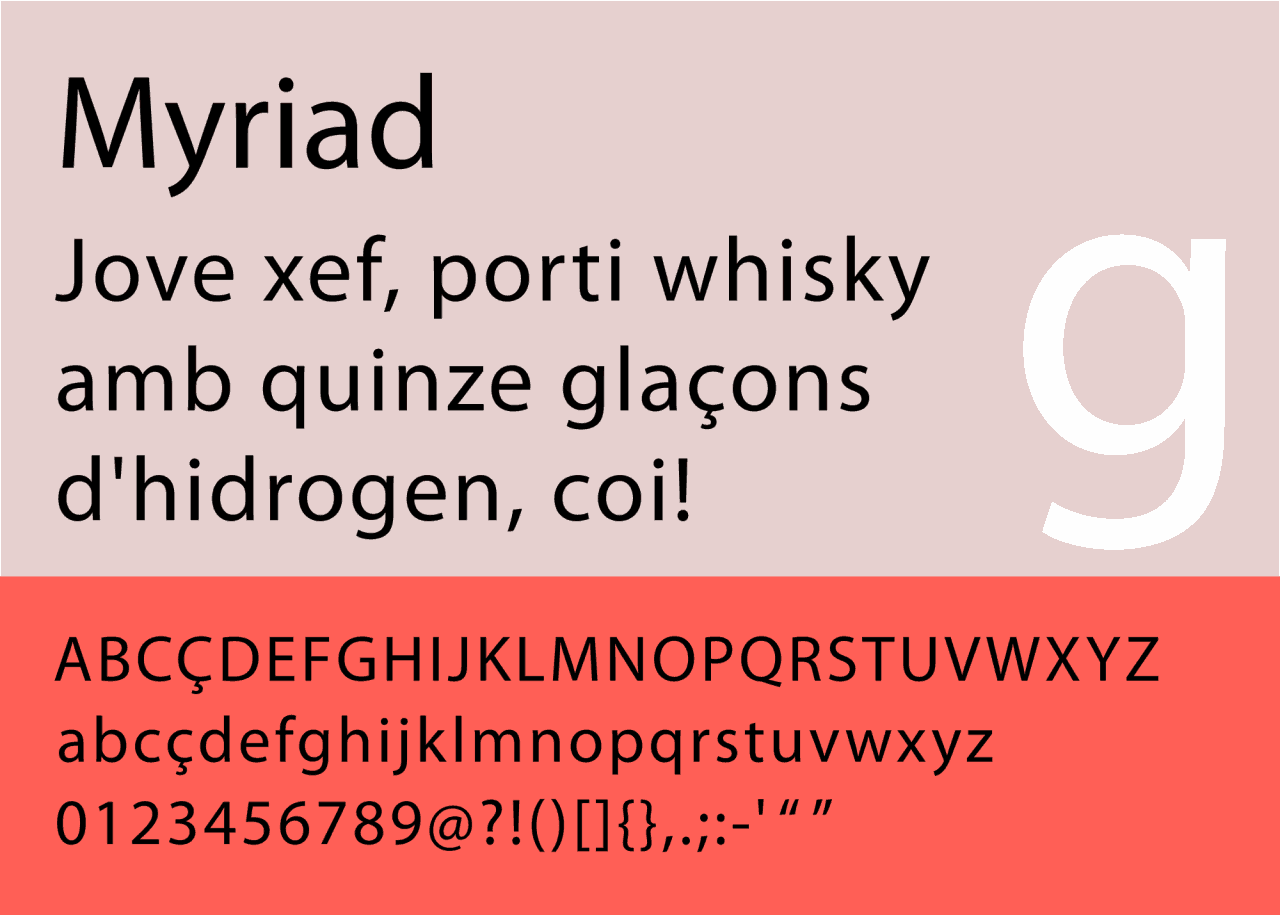 Download Myriad     [1992 - Carol Twombly & Robert Slimbach] font (typeface)