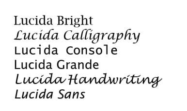 Download Lucida     [1985 - Chris Holmes & Charles Bigelow] font (typeface)