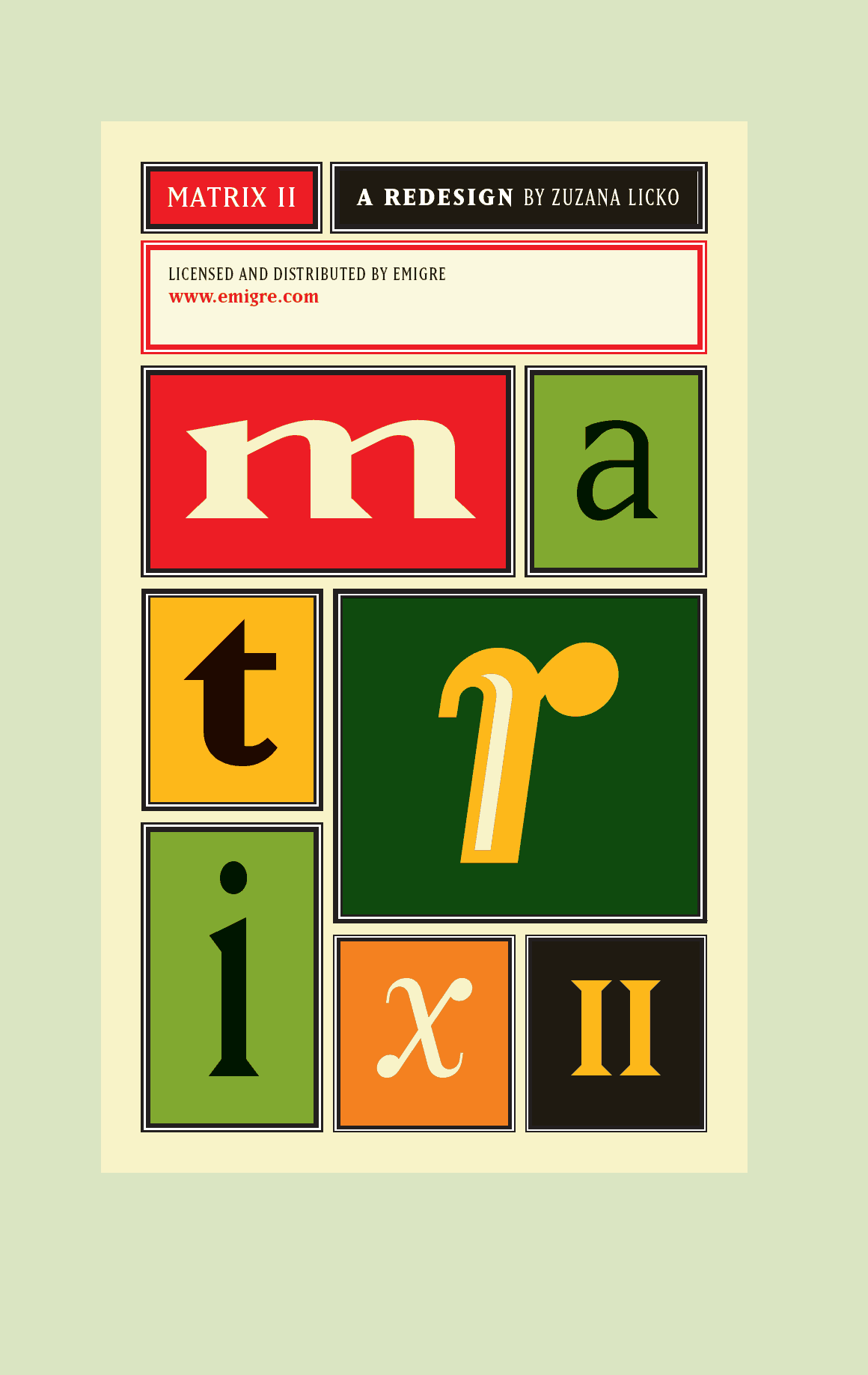 Download Matrix     [1986 - Zuzana Licko] font (typeface)
