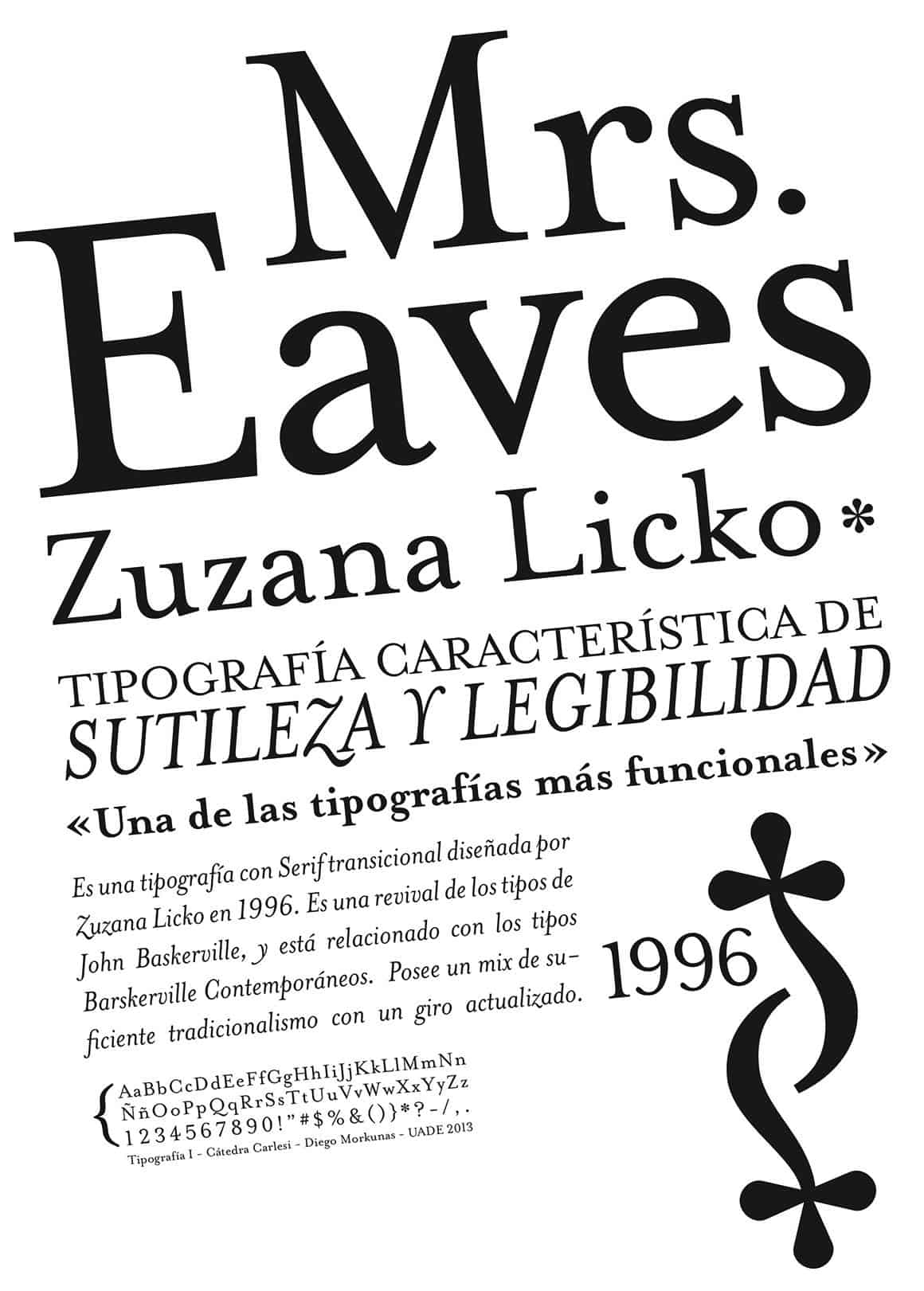 Download Mrs Eaves     [1996 - Zuzana Licko] font (typeface)
