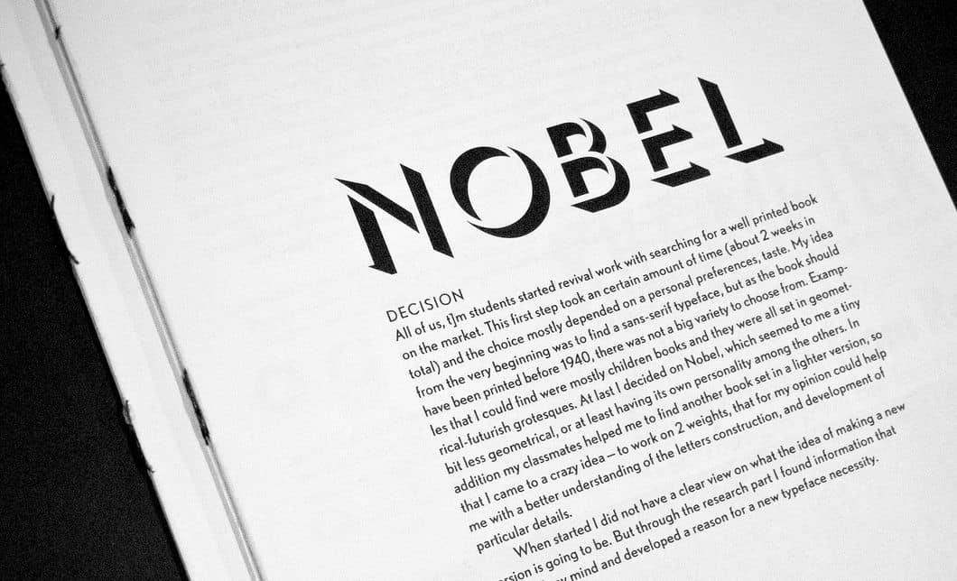 Download Nobel     [1929 - Sjoerd de Roos] font (typeface)