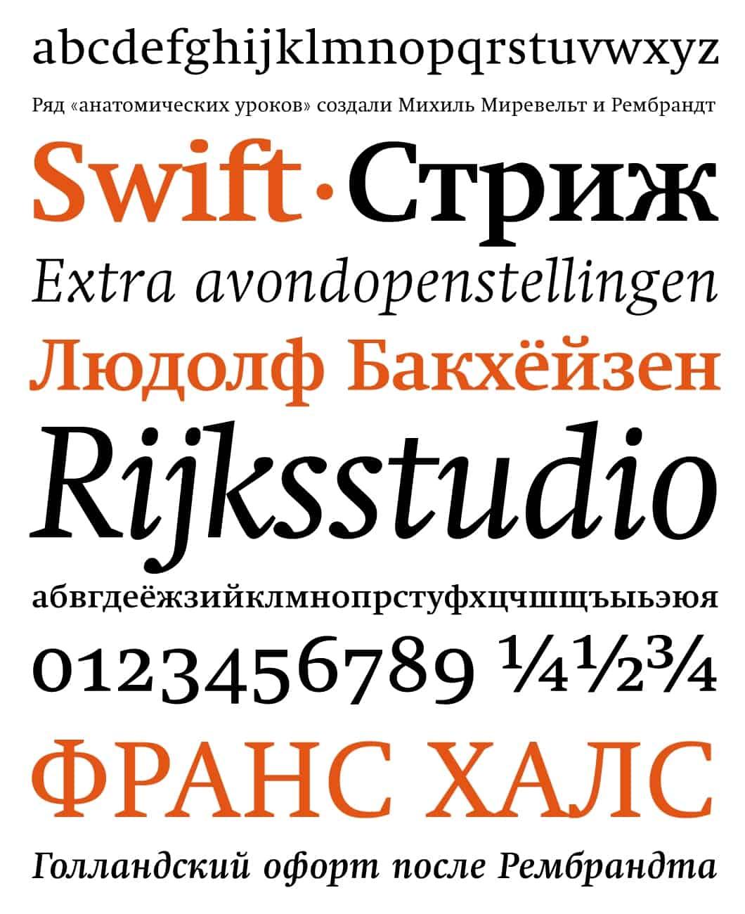 Download Swift     [1987 - Gerald Unger] font (typeface)