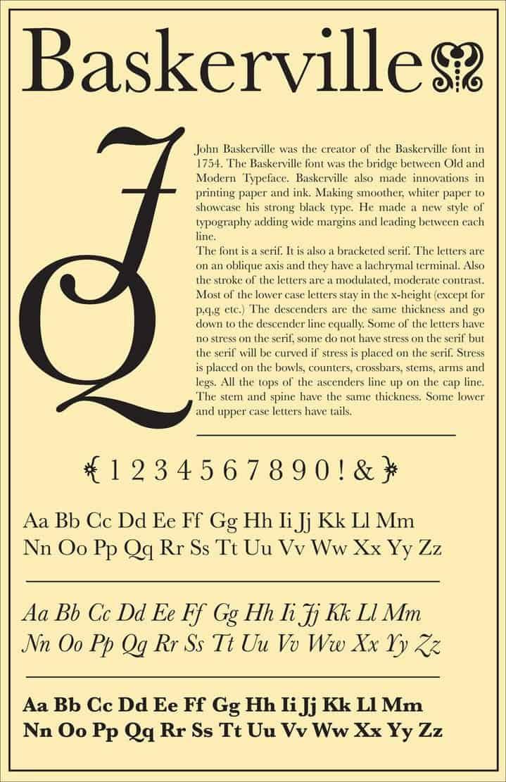 Download Baskerville 1754 - John Baskerville font (typeface)