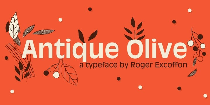 Download Antique Olive 1962 - Roger Excoffon font (typeface)