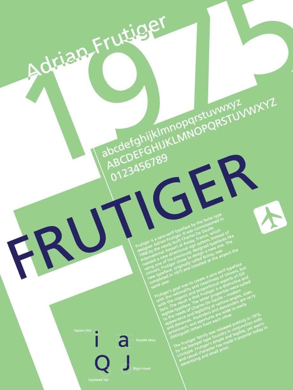 Download Frutiger     [1977 - Adrian Frutiger] font (typeface)