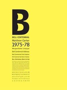 Download Bell Centennial  1978 - Matthew Carter font (typeface)