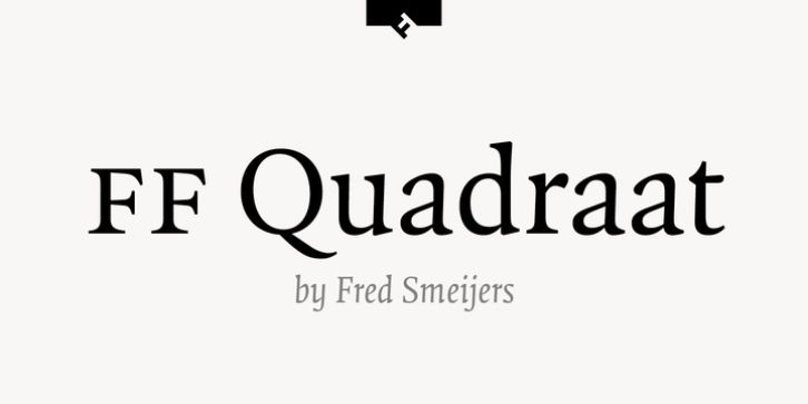 Download Quadraat PS [1992 - Fred Smeijers] font (typeface)