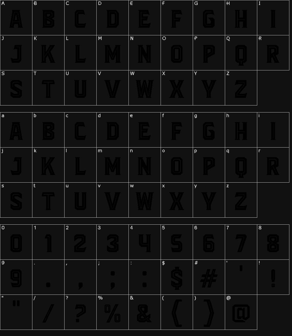 Download Blacktroops Inline font (typeface)