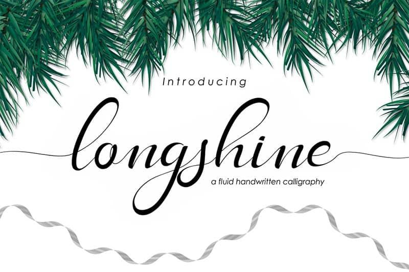 Download Long Shine Script font (typeface)