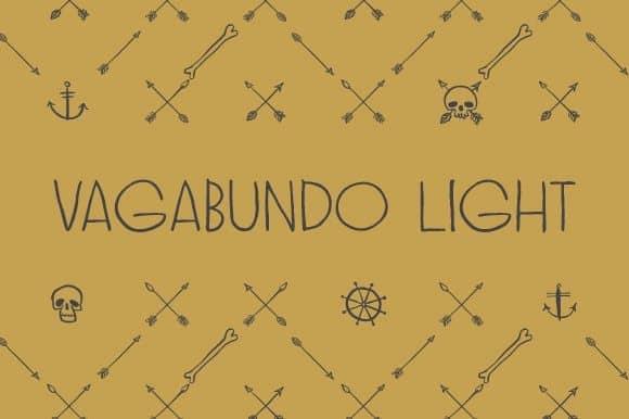Download Vagabundo Light font (typeface)