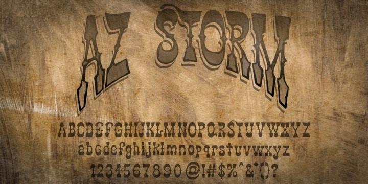 Download AZ Storm font (typeface)
