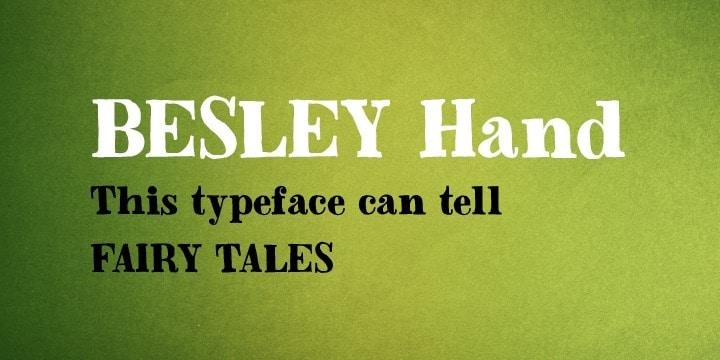 Download Besley Hand font (typeface)