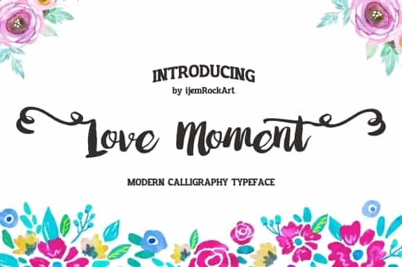 Download Love Moment font (typeface)