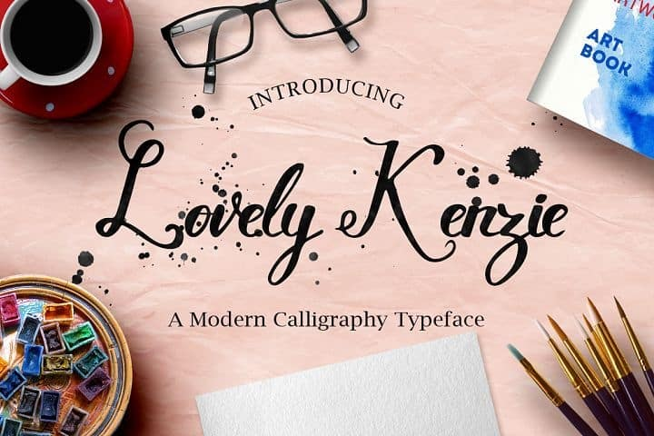 Download Lovely Kenzie font (typeface)