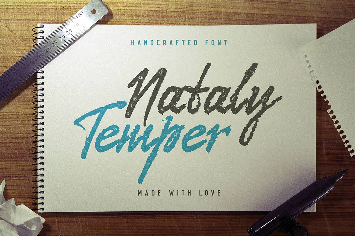 Download Nataly Temper font (typeface)
