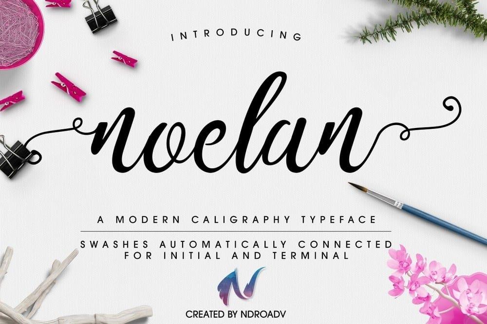 Download noelanscript font (typeface)