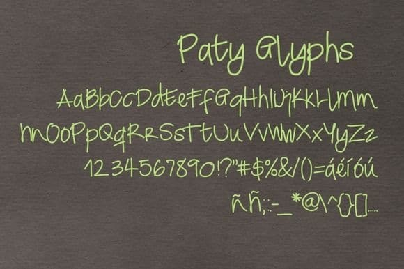 Download Patyfont font (typeface)