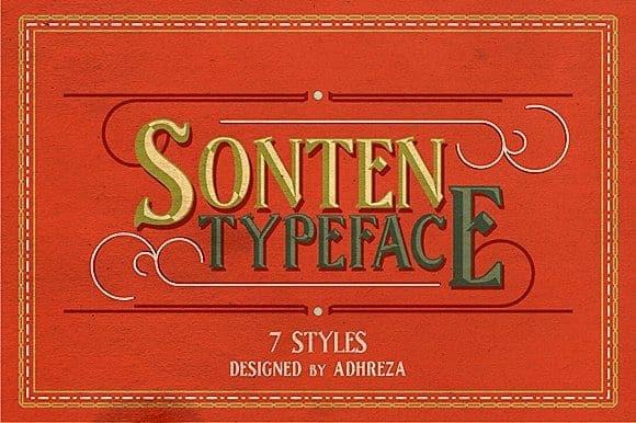 Download Sonten font (typeface)