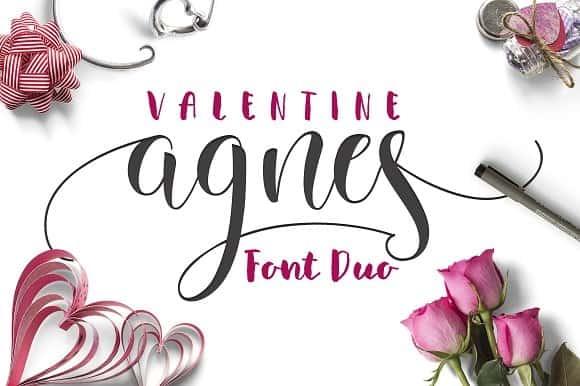 Download Valentine Agnes font (typeface)