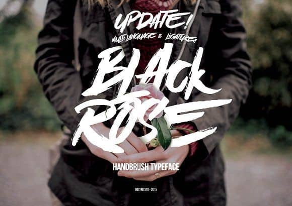 Download Black Rose Handbrush font (typeface)