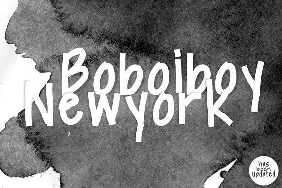 Download Boboiboy NewYork font (typeface)