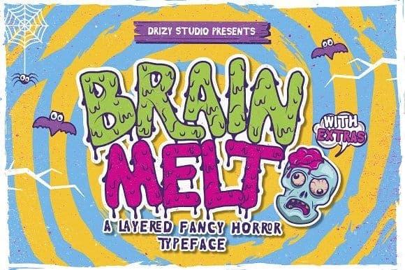 Download Brain Melt font (typeface)