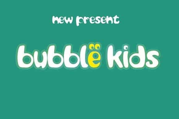 Download Bubble kids font (typeface)