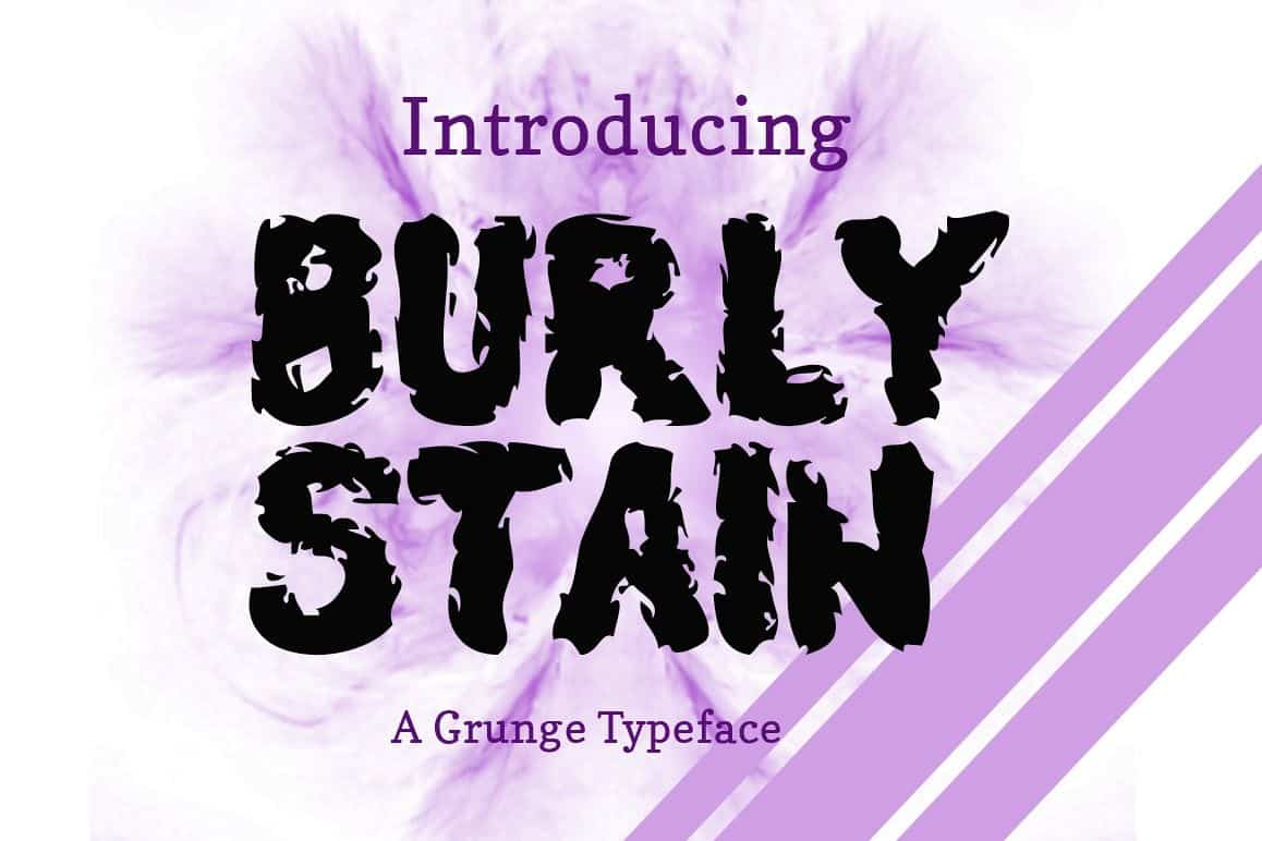 Download Burly Stain font (typeface)