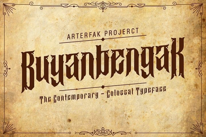 Download Buyanbengak Typeface font (typeface)