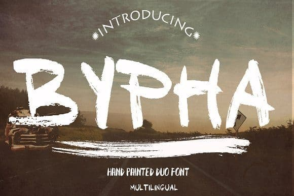 Download Bypha font (typeface)