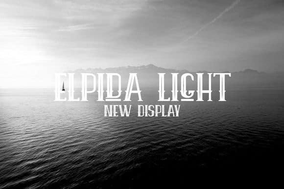 Download Elpida Light font (typeface)
