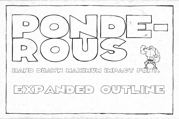Download Ponderous Expanded Outline font (typeface)