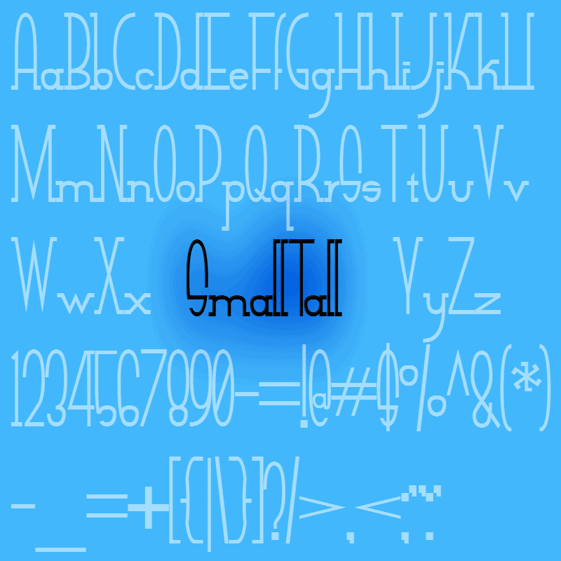 Download Small Tall font (typeface)