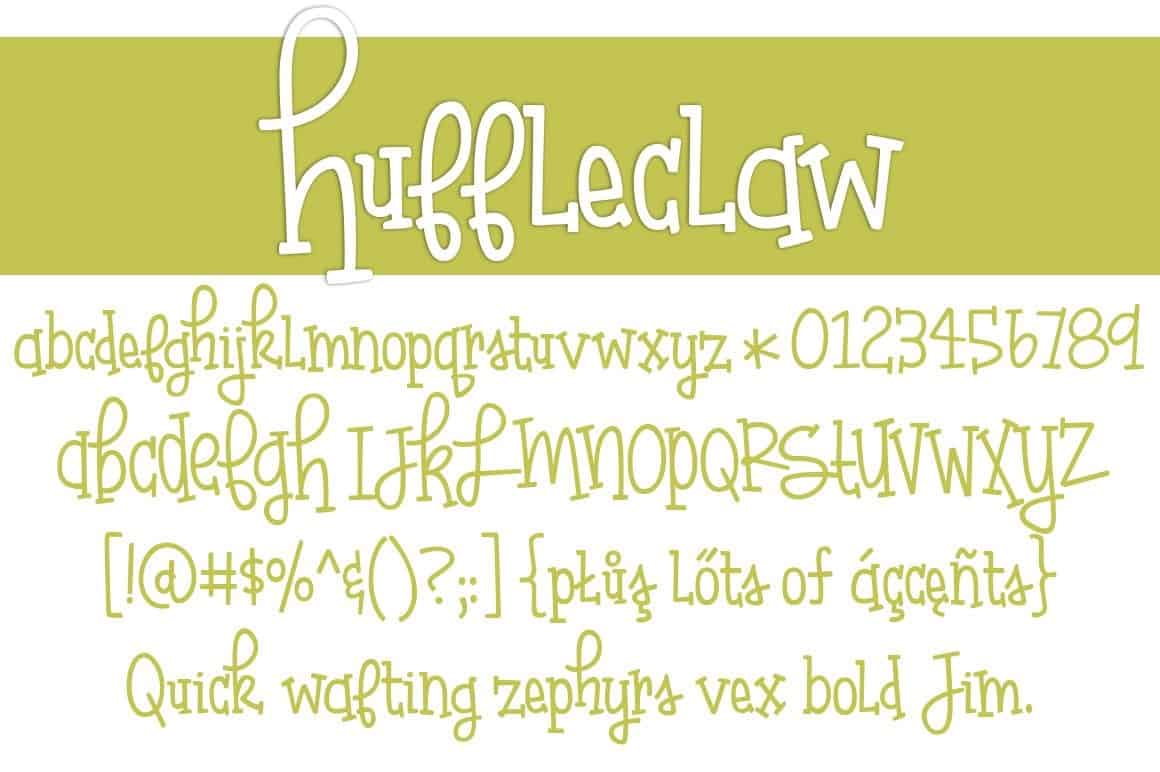 Download Huffleclaw font (typeface)