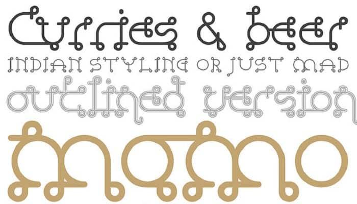 Download Vindaloo font (typeface)
