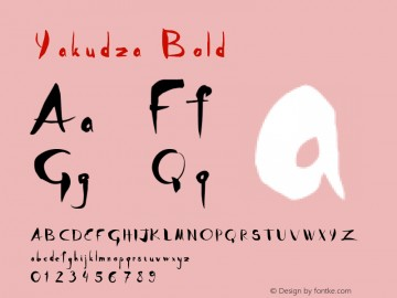 Download Yakudza Bold font (typeface)