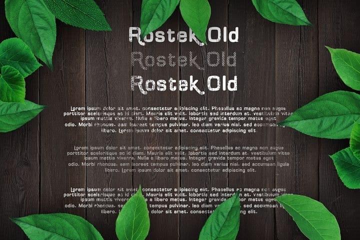 Download Rostek Old font (typeface)