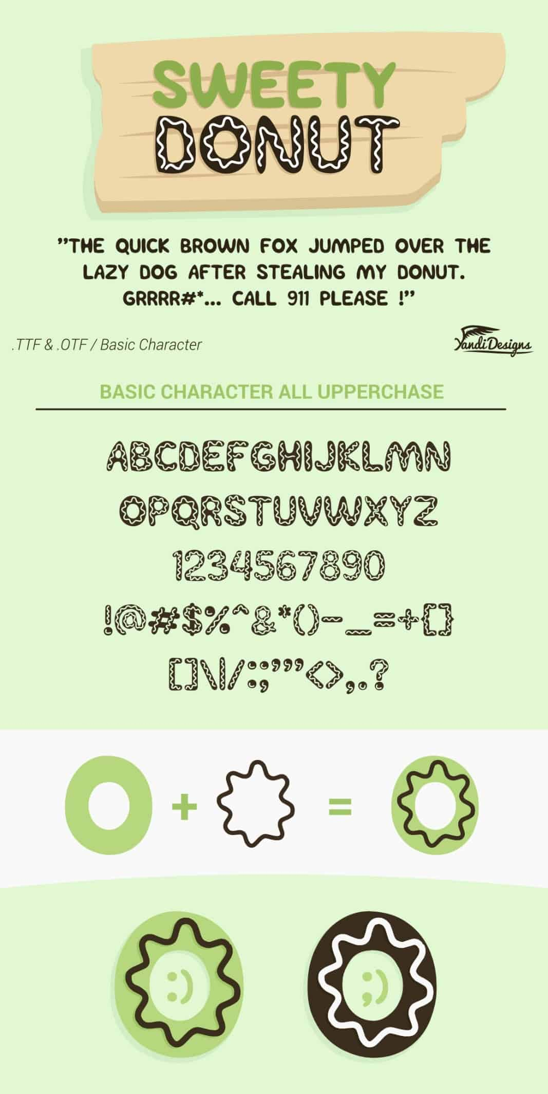 Download Sweety Donut 1 font (typeface)